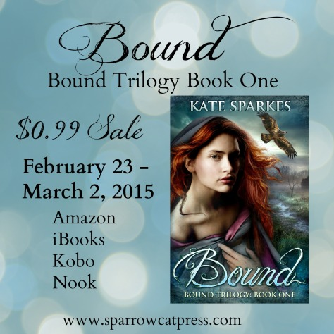 Kate Sparkes, Bound, 99c sale