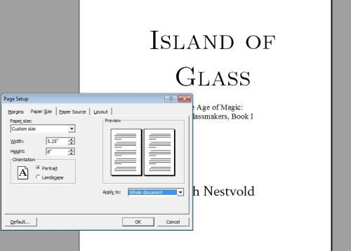 Starting out as an indie author formatting the interior of your as you can see here i used 5 14 x 8 for island of glass a ya novella for my monster epic novels yseult and shadow of stone however pronofoot35fo Gallery
