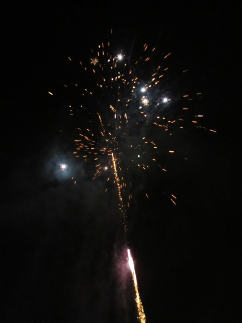 Fireworks above the Neckar